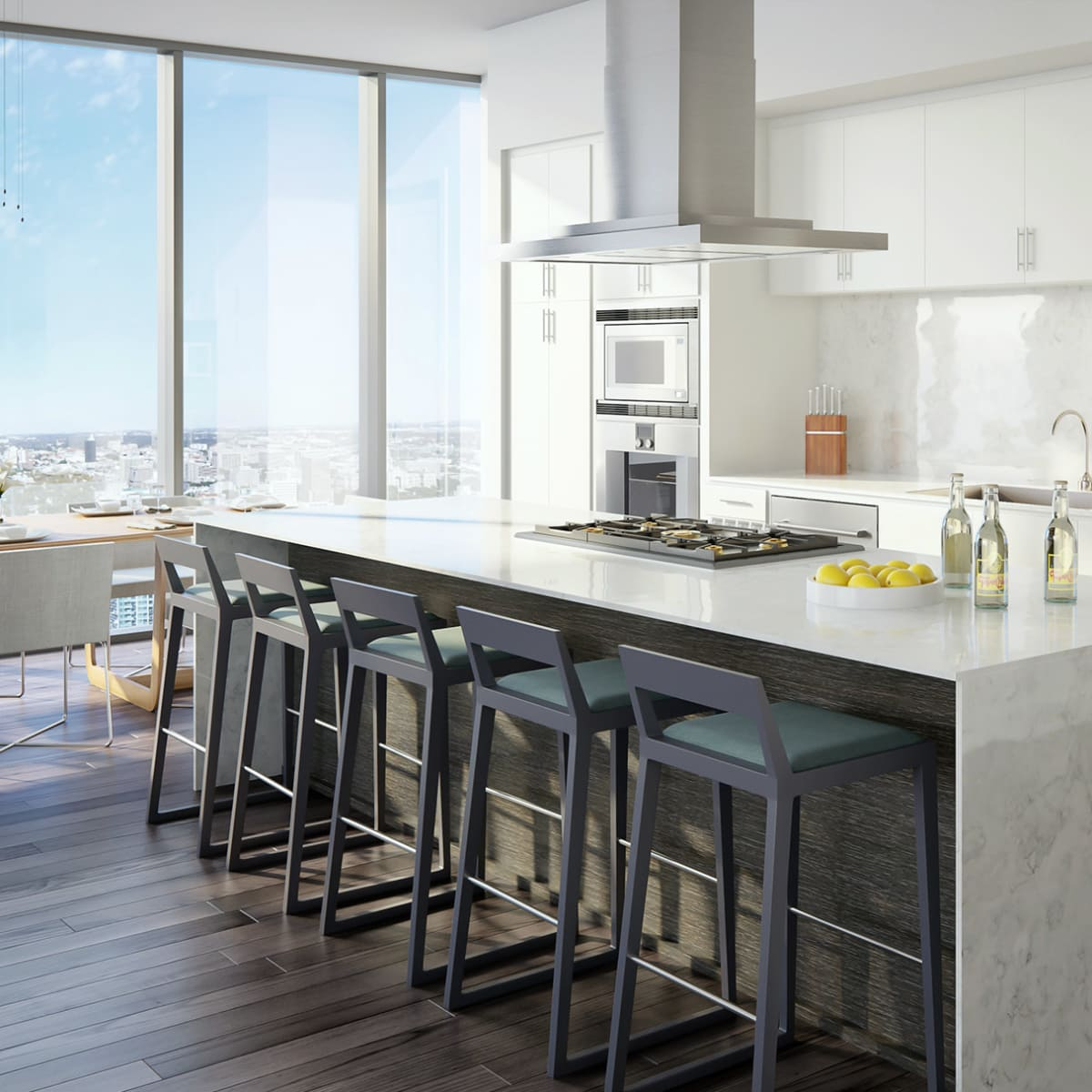The Independent Austin condos dining room