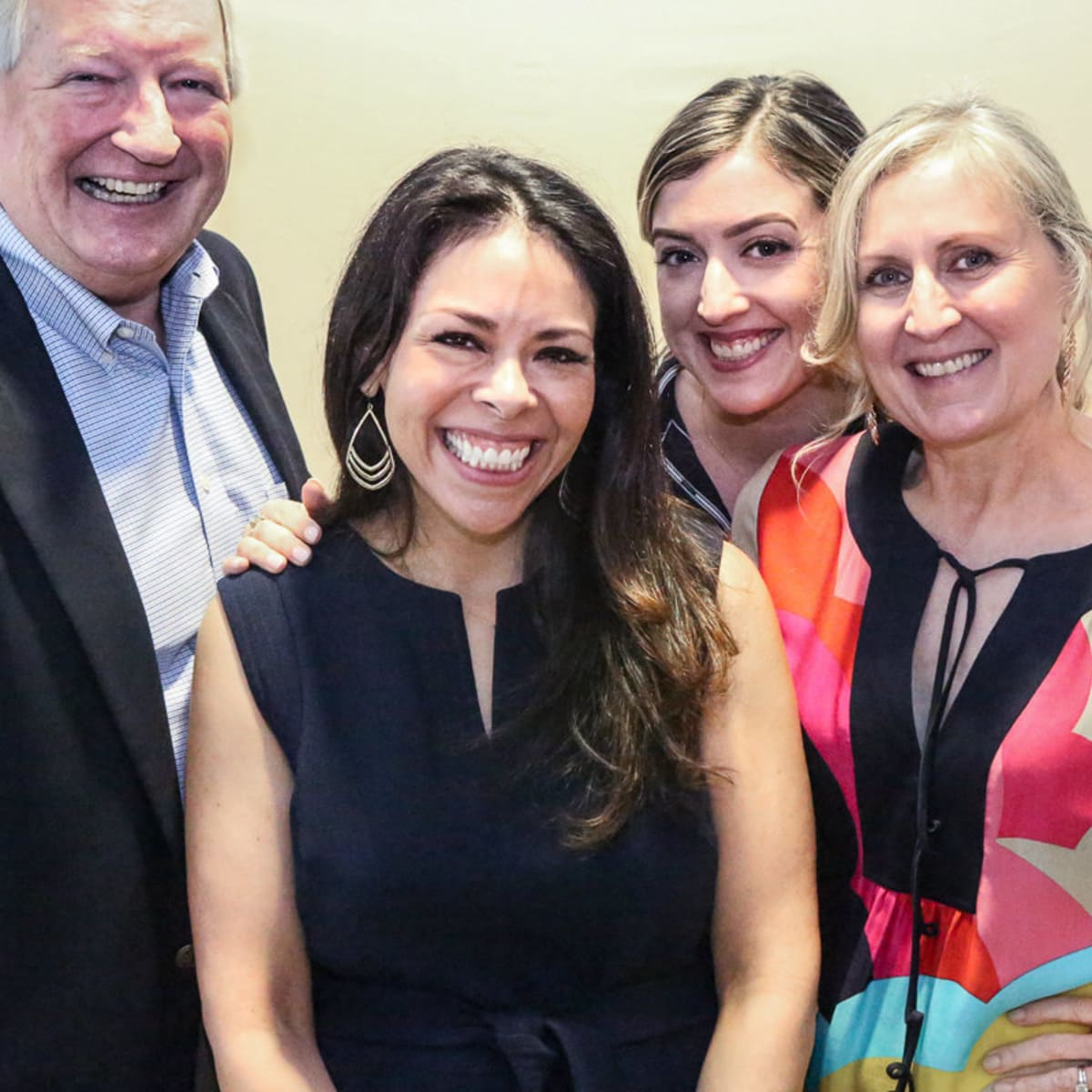 Earl Maxwell, CEO St. David's Foundation, Celeste Flores Executive Director of I Live Here I Give Here, Shannon Hartigan Contreras and Lisa Trahan of St. David's Foundation
