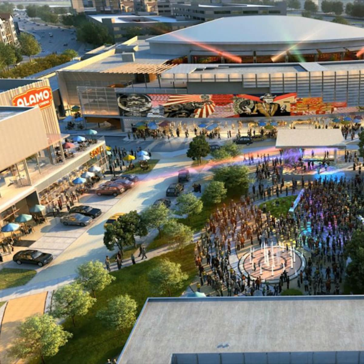 Rendering of Toyota Music Factory in Las Colinas