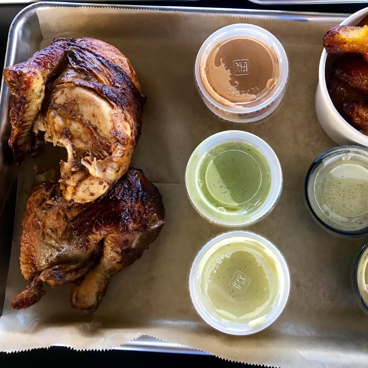 The Chicken Station tray