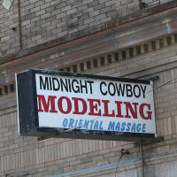 Austin Photo Set: News_Mike_midnight cowboy oriental modeling_feb 2012_sign
