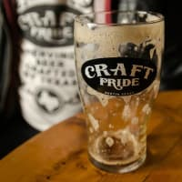 Craft Pride beer brew empty glass Austin bar Rainey Street