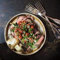 Supper Hotel Emma San Antonio restaurant beef dish