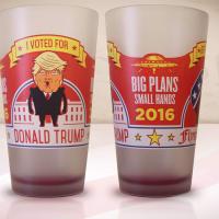 Trump beer glass
