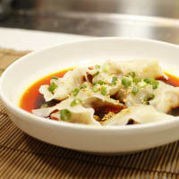 Wonton in spicy sauce at Jeng Chi Chinese restaurant in Richardson