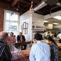 Oxheart Restaurant interior diners kitchen