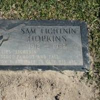"""Sam """"Lightnin"""" Hopkins grave stone"""