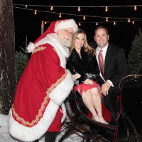 MD Anderson Santa's Elves party, Santa, Kristin Thrasher, David Thrasher