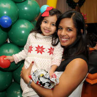 Houston, M.D. Anderson Breakfast with Santa, Dec 2016, Kusum Patel, Krishna Patel