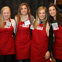 Houston, Tri Delta The Sale benefiting TCH, Jan 2017, Ann Woods, Emily Bloss, Kathleen Hoffman, Lauren Messa