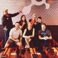 Erin Andrews at Orange Theory Fitness