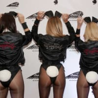 Houston, Playboy and Tao Super Bowl Party, Jan 2017, Playmates Summer Altice, Monica Sims and Heather Rae Young