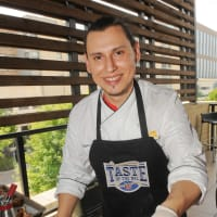 Tailgate Throwdown at Houston Texans Grille July 2013 Chef German Mosquera