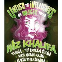 "Wiz Khalifa in concert ""Under the Influence Music Tour"""