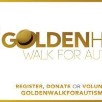 logo for Golden Hat Walk for Autism 2014