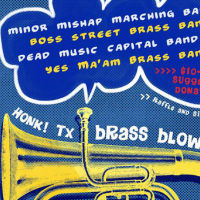 HONK!TX Brass Blowout fundraiser party_poster CROPPED_2015