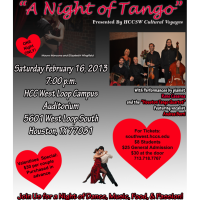 """Houston Community College SW Cultural Voyages presents """"A Night of Tango"""""""
