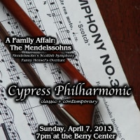 "Cypress Philharmonic presents ""A Family Affair: The Mendelssohns"""