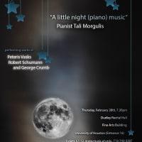 """Tali Morgulis piano recital: """"A little night (piano) music"""""""