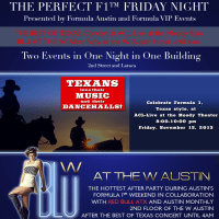 poster for Formula Austin Best of Texas at ACL Live and Blu at the W party