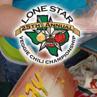 pot of chili at Lone Star Veggie Chili Cookoff Championship
