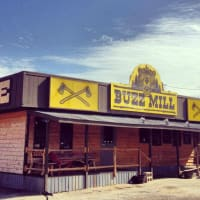 exterior of the Buzz Mill coffee shop and bar