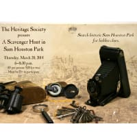 "Heritage Society hosts ""A Scavenger Hunt in Sam Houston Park"""