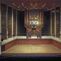 Bates Recital Hall interior organ UT