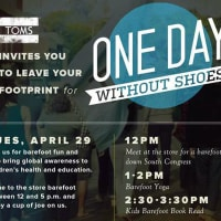 TOMS One Day Without Shoes april 2014