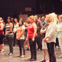 instructor and students for Rhythm on Stage dance class at the Long center