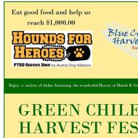 poster Green CHile Harvest Fest at Blue Corn Harvest