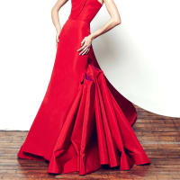 Gustavo Cadile red dress