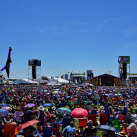 Jazz Fest in New Orleans crowd