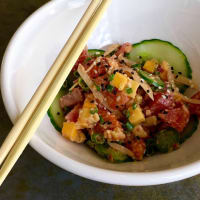Liberty Kitchen restaurant Hawaiin poke bowl