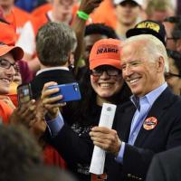 Joe Biden at Final Four game Syracuse vs. North Carolina