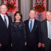 Texas Heart Institute dinner, Feb. 2016, William McReaven, Janiece Longoria, Steve Lasher, Dr. James Willerson