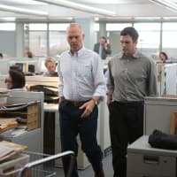 Michael Keaton and Mark Ruffalo in Spotlight
