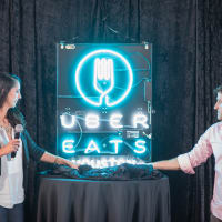 UberEATS Houston announcement Sarah Groen, Ryan Pera