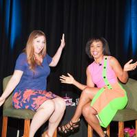 News, Shelby, Women's Fund luncheon, Oct. 2015, Katie Meyler, Gina Gaston Elie