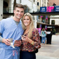 News, Shelby, West Ave sip, shop & stroll, Sept. 2015, Bobby and Megan Paulk