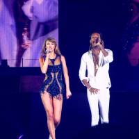 Taylor Swift and Wiz Khalifah at Minute Maid Park