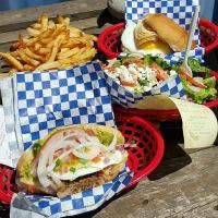 The Luxury San Antonio restaurant milanesa food picnic table