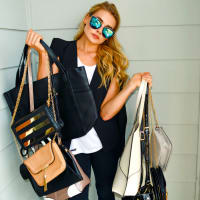 Houston, Kissue store opening, August 2015, handbags