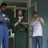 RJ Cyler, Nick Offerman and Thomas Mann in Me and Earl and the Dying Girl