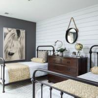 Shiplap in a bedroom