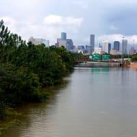 Houston, Hurricane Harvey, flood photos, Highway 288 northbound lanes from the Binz Street bridge