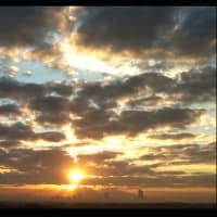 News_Houston 175_photo contest_Catherine Walsh_sunset_Houston skyline_January 2012_8643