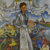 """Holocaust Museum Houston presents """"Human Rights Art"""" opening day"""