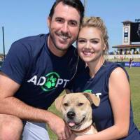 Justin Verlander Kate Upton with dog