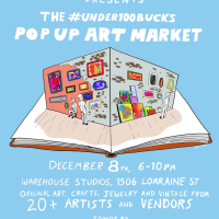 The #under100bucks Pop Up Art Market